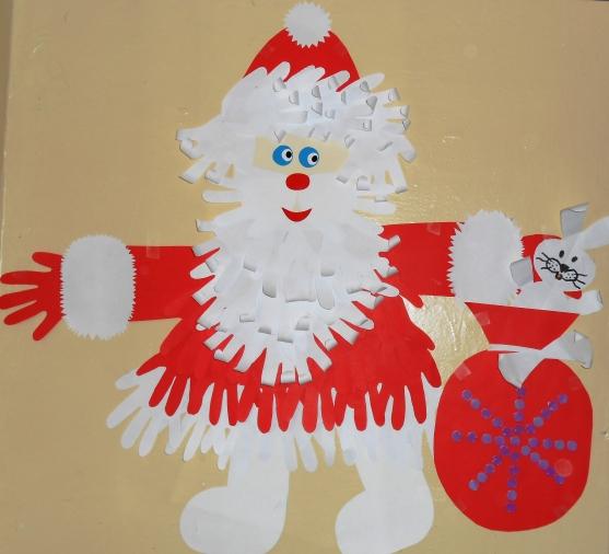 Поделки в детский сад на новый год своими руками деда мороза