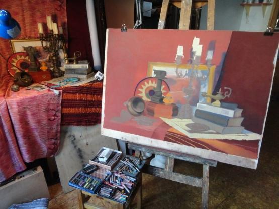 Моя дипломная работа Воспитателям детских садов школьным  Ну а это процесс рисования второго натюрморта