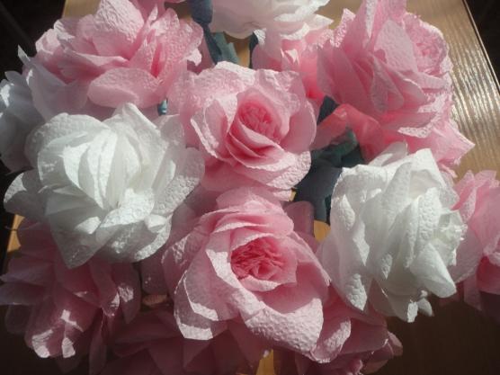 Цветы из салфеток маме на 8 марта своими руками 167