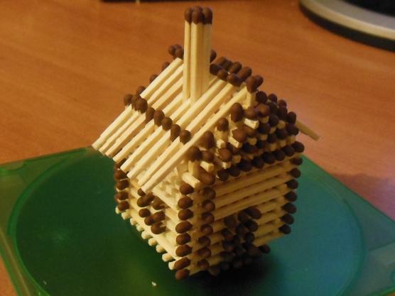 Поделка мой дом из спичек 286