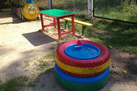 Оформление участков детского сада летом своими руками