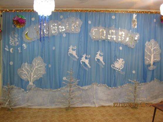 Украшение зала новый год своими руками