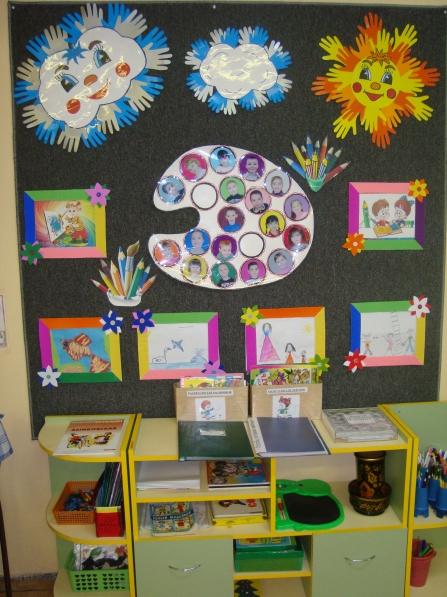 Как оформить изо уголок в детском саду фото своими руками