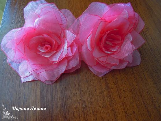 Розы из органзы своими руками мастер классы 484