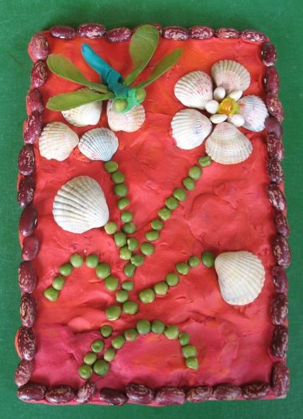 Поделки из семян и пластилина своими руками 60