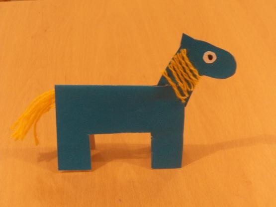 Лошадка-киригами