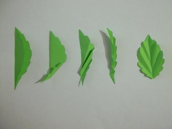 Как сделать листья для цветка 767