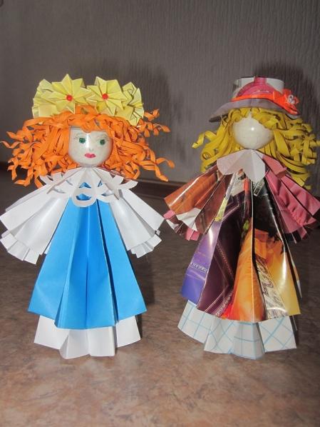 Поделки из бумаги куклы из бумаги видео