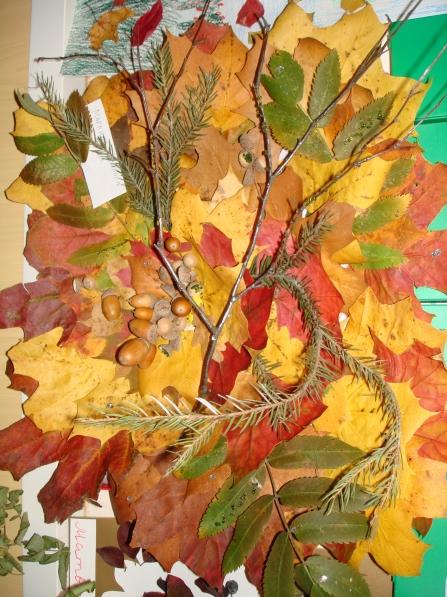 Поделки из листьев деревьев для школьников