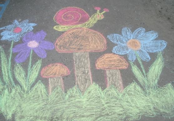 рисунки на асфальте детские фото