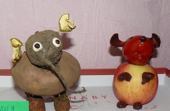 Мышка из овощей фото