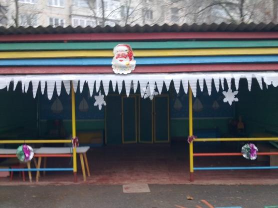 Оформление веранд в детском саду к новому году