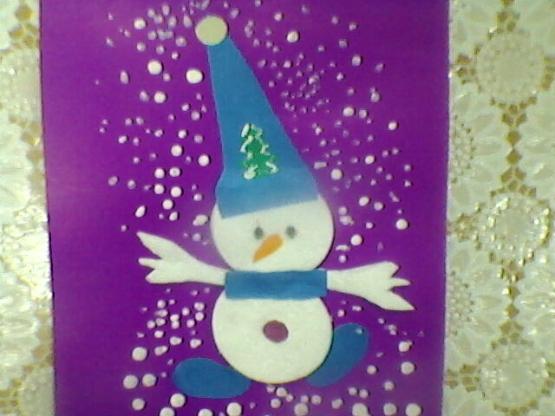 Аппликация на тему новогодняя открытка в младшей группе