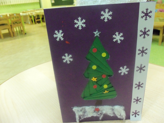 Войне, аппликация поздравительная открытка к новому году в старшей группе