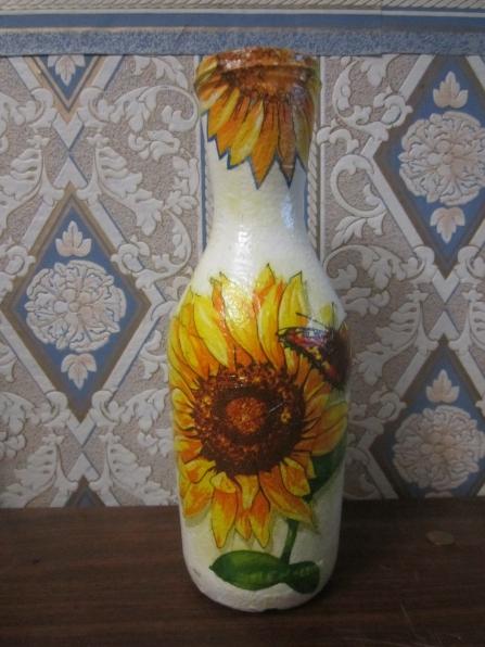 Детская ваза из салфеток