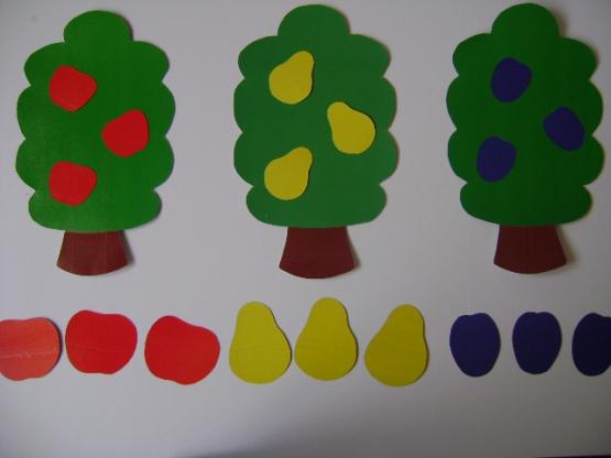 Игра «Подбери фрукты для каждого дерева»