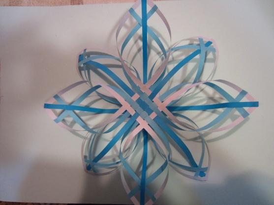Снежинка из бумаги объемная.мастер класс своими руками схемы