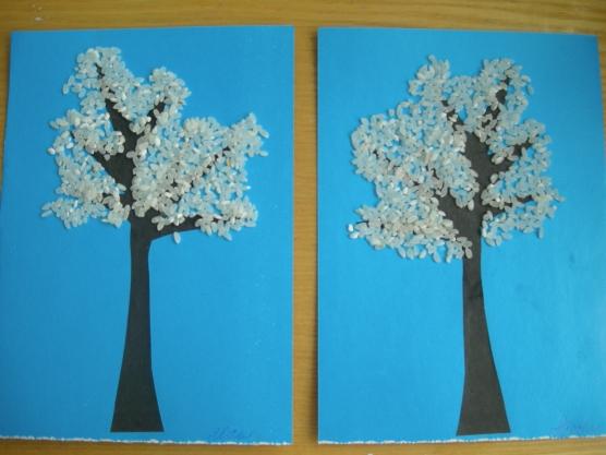 Дерево зимнее поделка своими руками