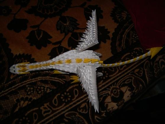 оригами из модулей дракон.