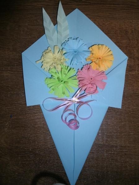 Букет цветов из бумаги своими руками для детей 24