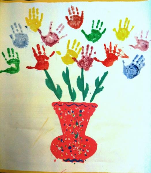 Сакчать конспект занятия по нетрадиционному рисованию в детском саду рисование ладошкой