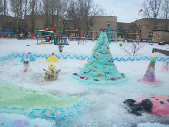 Снежный городок в садике