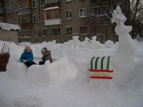 Зимние участки в детском саду