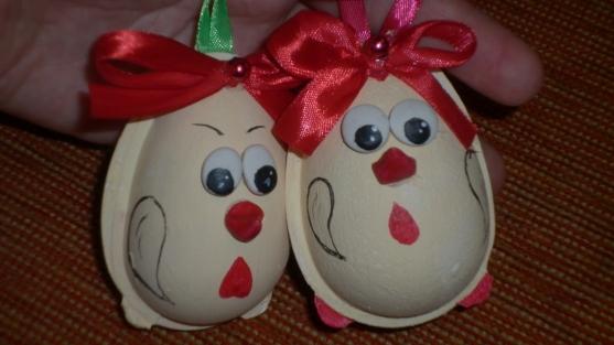 Как сделать новогоднюю игрушку из яйца своими руками