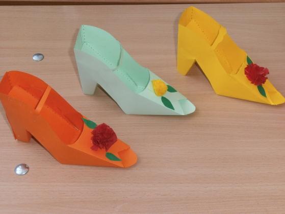 Технология 4 класс как сделать туфлю из бумаги