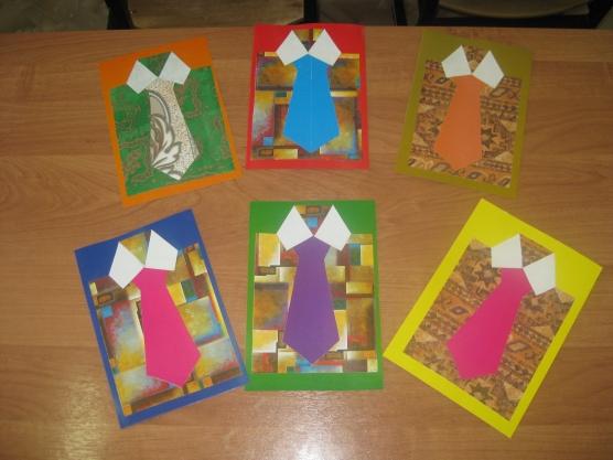 Открытка для папы к 23 февраля в детском саду