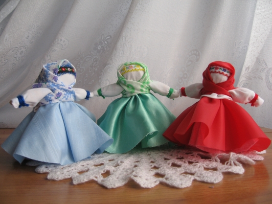 Традиционная тряпичная кукла «Вера, Надежда, Любовь»