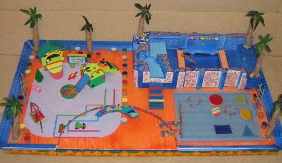 Игровая площадка из подручных средств на даче