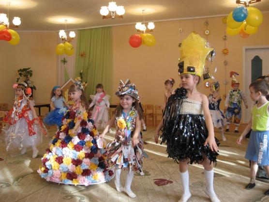 Наряд из подручных материалов в детский сад
