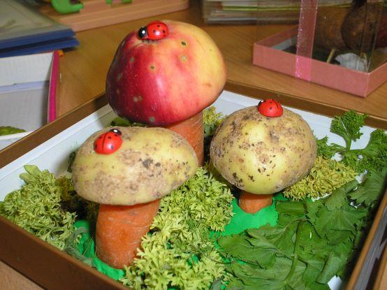 Как сделать поделку в садик на тему осень из овощей 98
