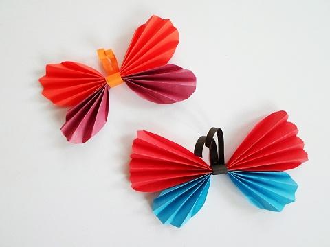 Спокойной, бабочка из бумаги гармошкой открытка