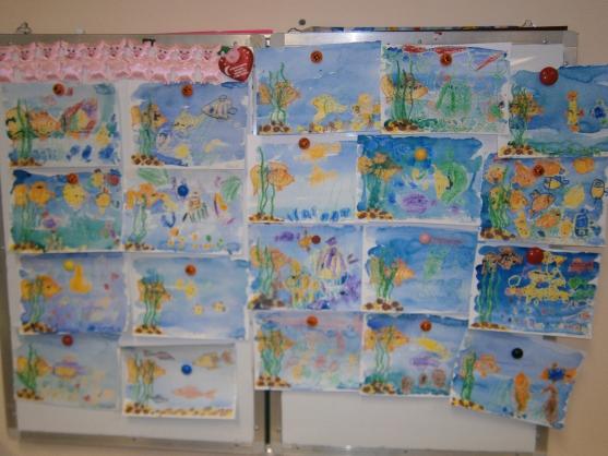Конспект НОД по рисованию «Рыбки в аквариуме» для детей средней группы детского сада