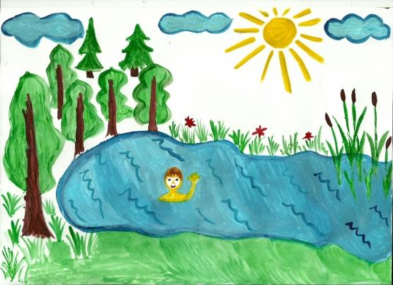 Детские рисунки про лето своими руками 47