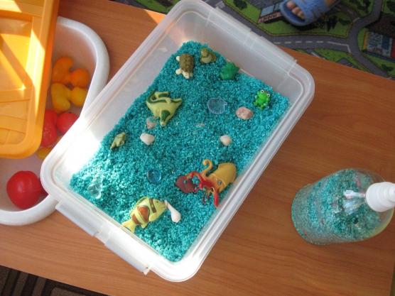 Сухой аквариум своими руками в детском саду фото