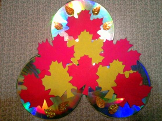Осенняя поделка из дисков