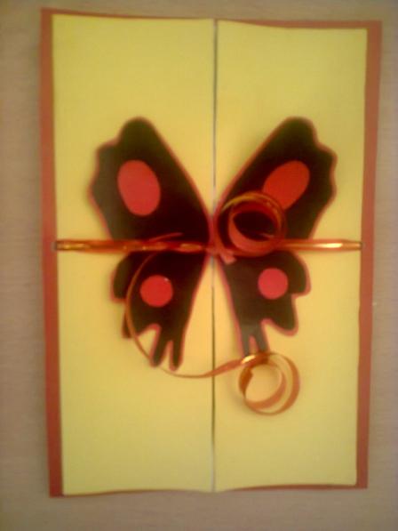 Раскладная открытка-бабочка.