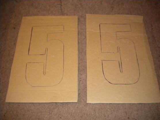Объемная цифра 5 из картона своими руками