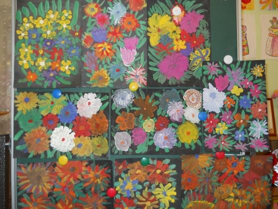 Поделка в детский сад из цветов 32