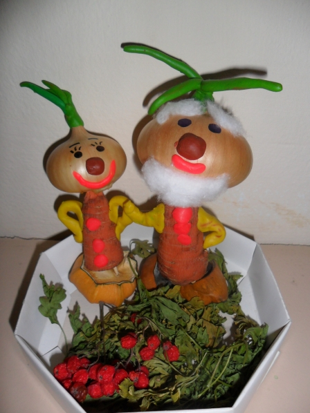 Осенние поделки для детского сада из овощей и фруктов