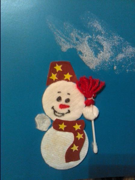 фото аппликация снеговик