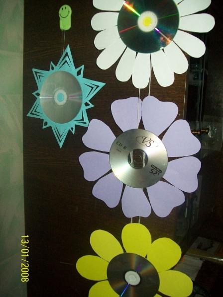 Поделки из сд дисков для огорода