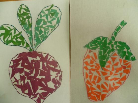 Поделка из бумаги на тему овощи и фрукты 344