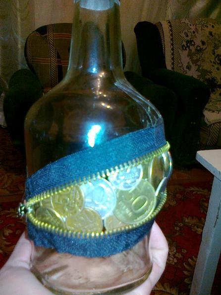 Мастер-класс: декорирование бутылки «Талисман на прибыль»