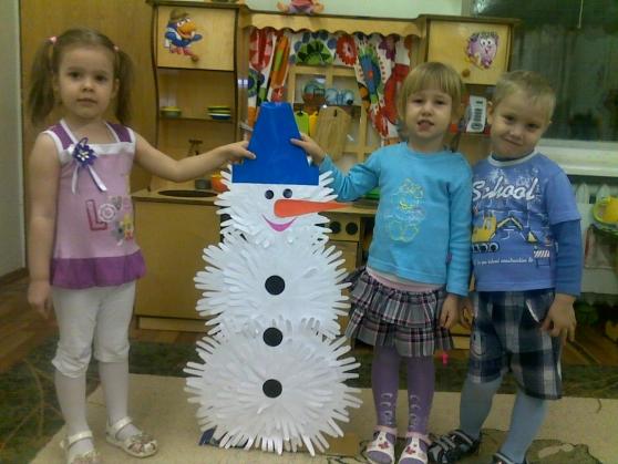 Как сделать снеговика в садик своими руками