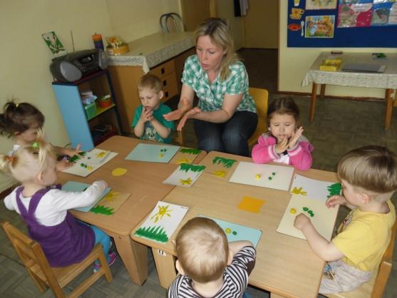 Конспект непосредственно-образовательной деятельности (лепка) «Одуванчик» в первой младшей группе