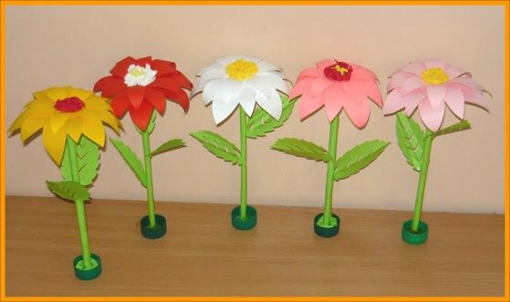 Поделки своими руками цветы в детский сад